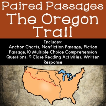 The Oregon Trail Reading Comprehension Paired Passages