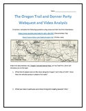 The Oregon Trail and Donner Party- Webquest and Video Analysis with Key