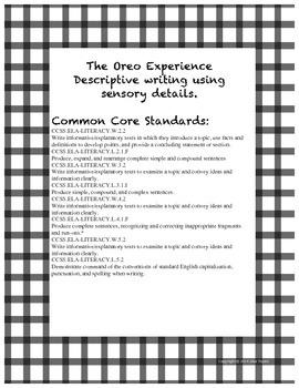 The Oreo Experience- Descriptive Writing Using Sensory Details