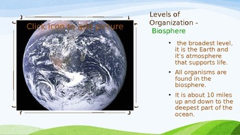 The Organization of Life Powerpoint
