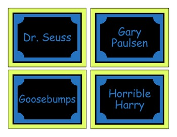 """The Organized Classroom"" Library Labels"