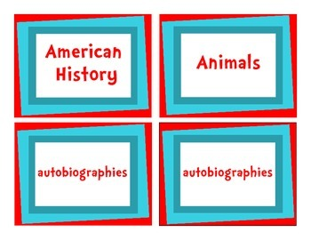 """""""The Organized Classroom"""" Library Labels - Dr. Seuss Inspired"""