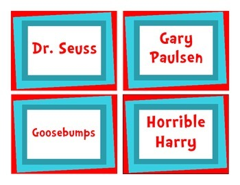 """The Organized Classroom"" Library Labels - Dr. Seuss Inspired"