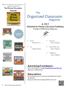 The Organized Classroom Magazine May 2013