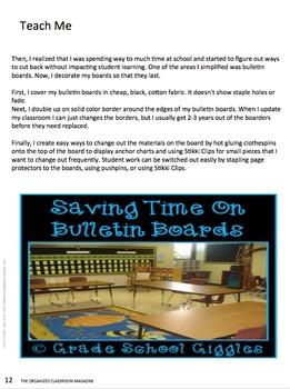 The Organized Classroom Magazine November 2013