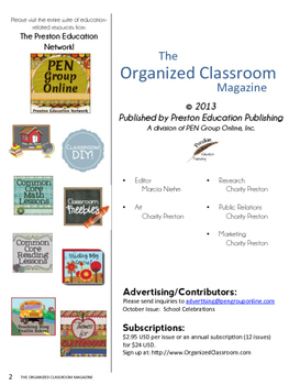 The Organized Classroom Magazine September 2013