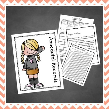 Preschool Teacher - Anecdotal Data
