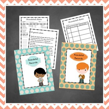 Preschool Teacher - Anecdotal Data