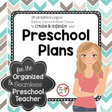 Lesson Plan FORMS & Preschool Planning Pages