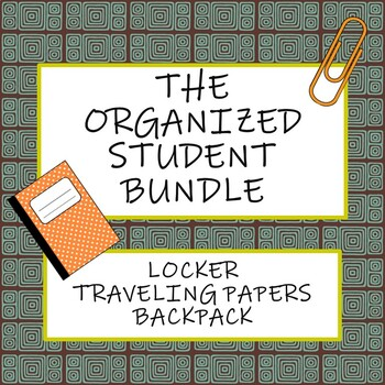 The Organized Student Bundle: Locker, Traveling Papers, and Backpack