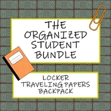 The Organized Student Bundle: Locker, Traveling Papers, an