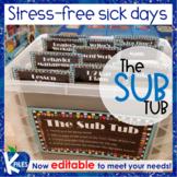 The Organized Sub Tub for Stress Free Substitute Teacher P