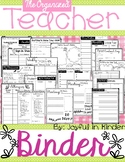 The Organized Teacher Binder