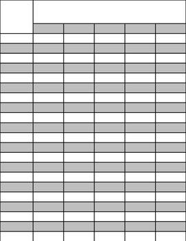 The Organized Teacher- Editable Grade Sheets