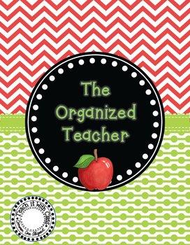 The Organized Teacher {Editable Planner Apple Theme}