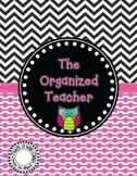 The Organized Teacher {Editable Planner Owl Theme}