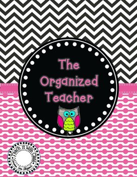 The Organized Teacher {Editable Planner Owl Theme}
