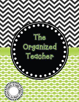 The Organized Teacher {Editable Planner in Black & Green