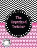 The Organized Teacher {Editable Planner in Black & Pink}
