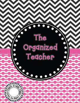 The Organized Teacher {Editable Planner in Black & Pink}
