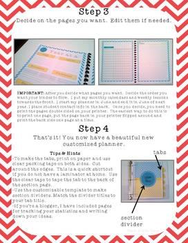 The Organized Teacher {Editable Planner in Black & Red}