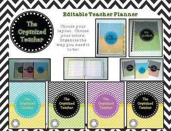 The Organized Teacher {Editable Planner in Black & Yellow}