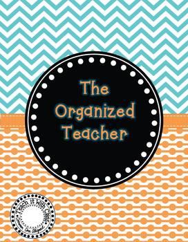 The Organized Teacher {Editable Planner in Blue & Orange}