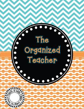 The Organized Teacher {Editable Planner in Blue & Orange}