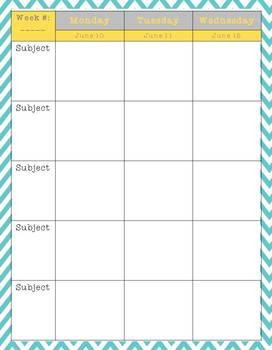The Organized Teacher {Editable Planner in Blue & Yellow}