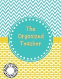 The Organized Teacher {Editable Planner in Blue & Yellow}