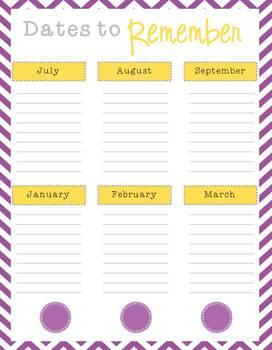 The Organized Teacher {Editable Planner in Purple & Yellow}