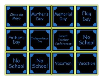 """The Organzied Classroom"" Calendar"