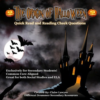 The Origin of Halloween Informational Text and Reading Che