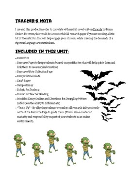 "The Origin & Evolution of Modern Day ""Monsters"" - Informative Essay Unit"