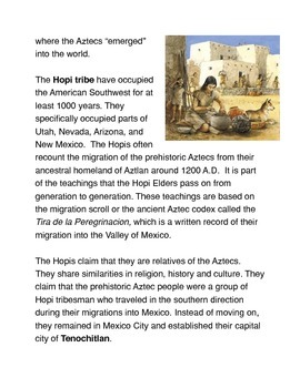 The Origin of the Aztecs Common Core Reading and Writing Activities