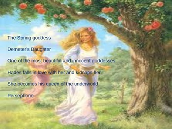 Origin of the Seasons Olivia Coolidge Short Story Power Point