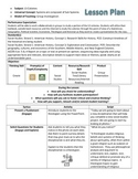 13 Colonies Lesson Plan - Group Investigation Model