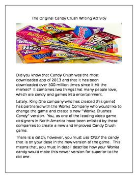 The Original Candy Crush Writing Activity