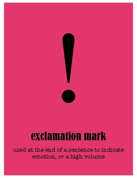 The Original, Classically Styled - Colorful Punctuation Posters