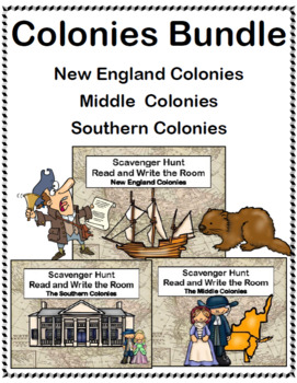 The Original Colonies -Read and Write The Room Scavenger Hunt Bundle