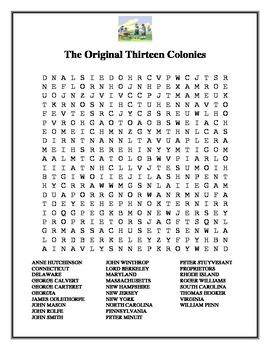 The Original Thirteen Colonies