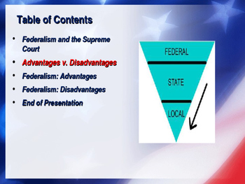 Establishing the US Government - Origins of Federalism