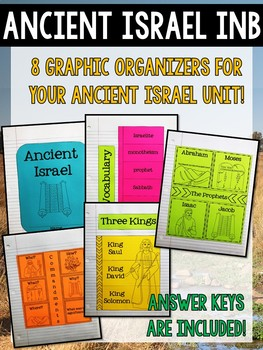 Ancient Israel and Origins of Judaism Interactive Notebook Graphic Organizers