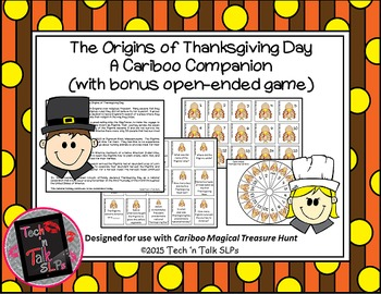 The Origins of Thanksgiving Cariboo Companion (with open-ended game)