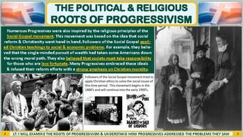 The Origins of the Progressive Reform Movement PP Notes for U.S. History Classes
