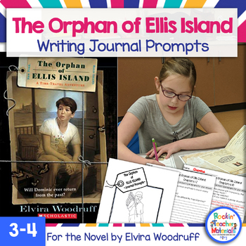 The Orphan of Ellis Island Journal Prompt Workbook - Immigration Book Study