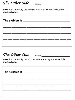 The Other Side - Problem and Solution - Complete Lesson Plan!