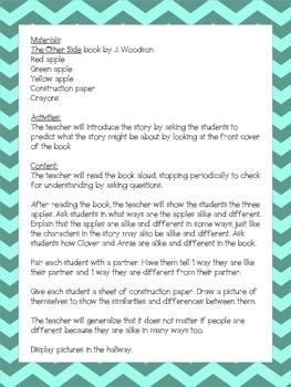 The Other Side by J. Woodson lesson plan