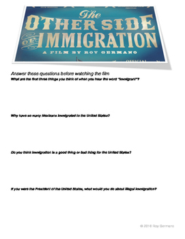 The Other Side of Immigration - Official Discussion Questions by Roy Germano