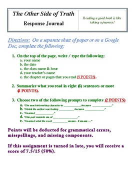 The Other Side of Truth Response Journal